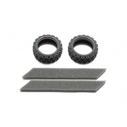 TAMIYA Pneus rally block Soft 26mm (x2) 54861