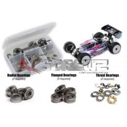 RCScrewz Set de Roulements Flasque Plastique Kyosho MP10 KYO185R