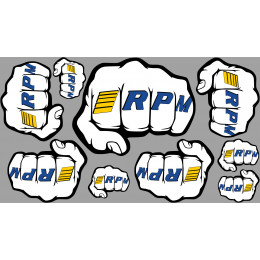 "RPM Planche de stickers RPM ""Fist"" logo 70020"