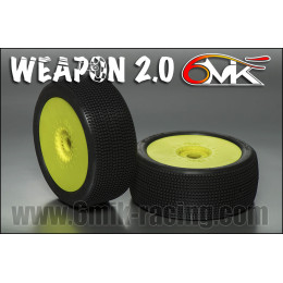 6MIK Pneus Weapon 2.0 Blue + Jantes Ultra jaunes TUY15B