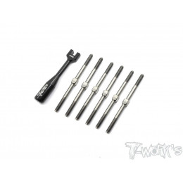 T-Work's Kit de Biellettes Titane + Clés XB2 Carpet TB173