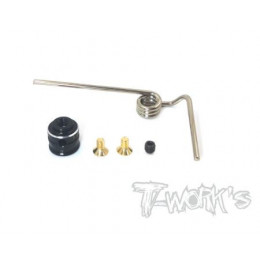 T-Work's Support d'échappement à ressort Kyosho MP9/10 TO-277K