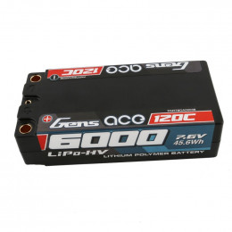 Gens Ace Racing Series Hv Accu lipo Shorty 7.6v 6000mah 120C 2S2P