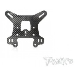 T-Work's Support Amortisseurs Avant Carbone 4mm RC8 B3.1 TO-247-RC8