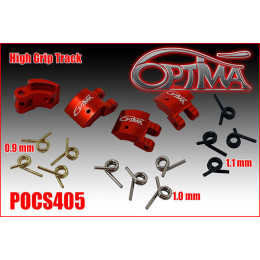 Optima Masselottes d'Embrayage Grip Rouge 4 Points Alu POCS405