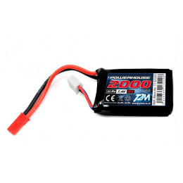T2M Accu de reception 7.4V 2000mah T132200
