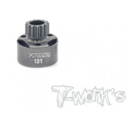 T-Work's Cloche d'Embrayage LightWeight Longue 13 Dents TG-065-13