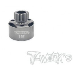 T-Work's Cloche d'Embrayage LightWeight Longue 14 Dents TG-065-14