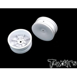 "T-Work's Jantes Avant 2wd 2.2"" 12mm Blanches (x2) TE-218-AW"