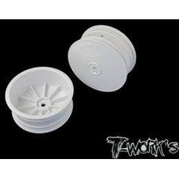 "T-Work's Jantes Avant 4wd 2.2"" 12mm Blanches (x2) TE-218-BW"