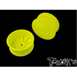 "T-Work's Jantes Avant 4wd 2.2"" 12mm Jaunes (x2) TE-218-BY"
