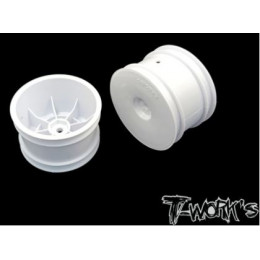 "T-Work's Jantes Arrières 2.2"" 12mm Blanches (x2) TE-218-CW"