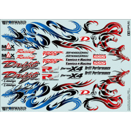 TAMIYA Stickers Dragon 53887