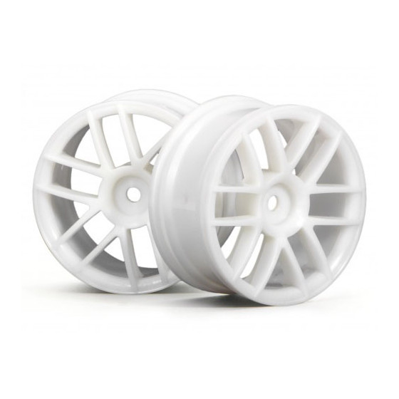 HPI - Jantes 6 branches - Blanc - 26mm - 3795