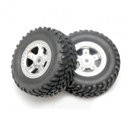 TRAXXAS Pneus Off-road + Jantes Satin (x2) 7073
