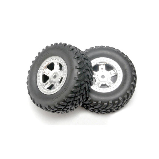TRAXXAS - Pneus Off-road + Jantes Satin - 7073