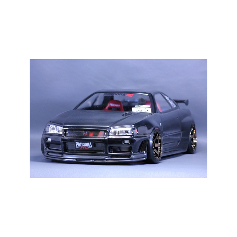 pandora carrosserie nissan skyline r34 gt r 200mm pab 131 rc team. Black Bedroom Furniture Sets. Home Design Ideas