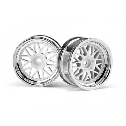 HPI Jantes HRE C90 chrome 26mm 6mm (x2) 106773