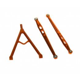 GPM Chassis link avant 120mm alu orange SCX049F-OR