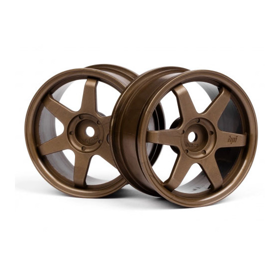HPI - Jantes Rays TE37 - Bronze - 26mm - 0mm - 3838