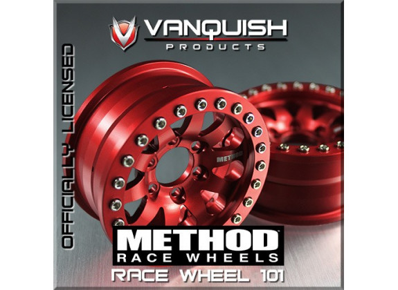 Vanquish Jantes 1.9 Method Race 101 Rouge (x2) VPS06898