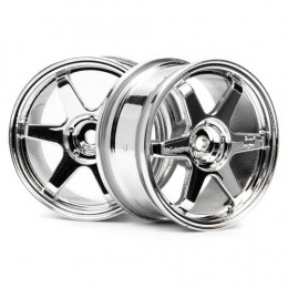 HPI Jantes Rays TE37 Chrome 26mm (x2)