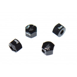 GPM Hexagones 9x12mm alu noir AX010/12X9MM-BK