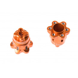 GPM Adaptateurs de roue 22mm alu orange YT022A-OR
