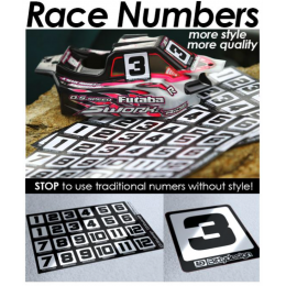 "Bittydesign Planche de stickers ""Race Numbers"" BDRNDS-2415-LP"