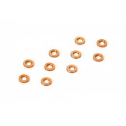XRay Rondelles Alu 3x6x0.5mm Orange (x10) 303121-O