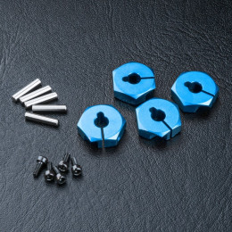 MST Hexagones alu 12mm Bleu (4) 820044B