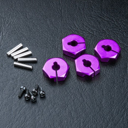 MST Hexagones alu 12mm violet (4) 820044P