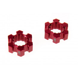 GPM Hexagones de roue alu rouge +10mm (x2) TXM010/10MM-R