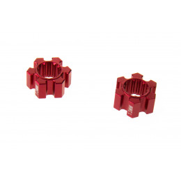 GPM Hexagones de roue alu rouge +13mm (x2) TXM010/13MM-R