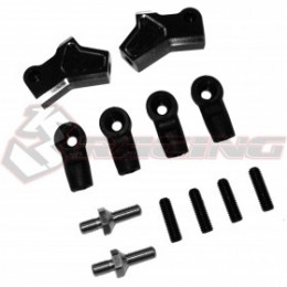 3RACING Set de Direction V2 Alu Rose Sakura D4 SAK-D4819/V2