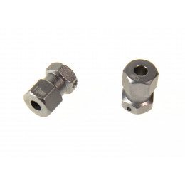 GPM Hexagones de roue +19mm alu gris RR010/1219-GS