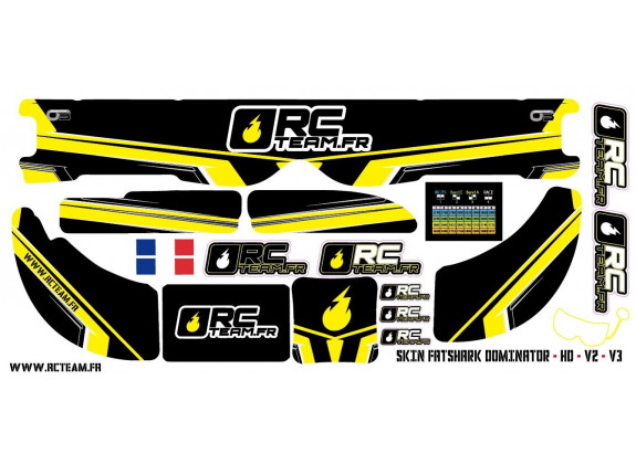 Skins O3-FPV pour voitures RC - RC Team