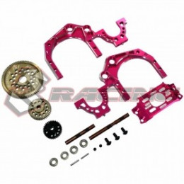 3RACING Set de Transmission Arrière Ratio 1.9 Sakura D4 SAK-D4841/PK