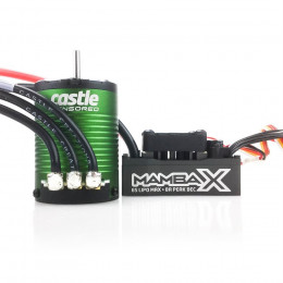 CASTLE Combo Variateur Mamba X + Moteur Brushless 1406 7700KV Sensored