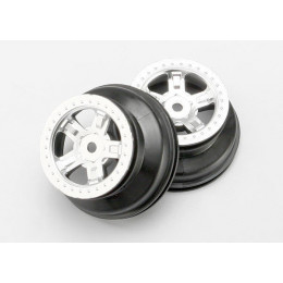 TRAXXAS Jantes Satin Chrome Off-road SCT (x2) 7072