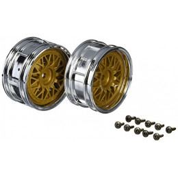 TAMIYA Jantes BBS Chrome/Or 26mm (x2) 50548