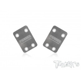 T-works Sabot de Protection Chassis Inox Kyosho (x2) MP9 TO220K