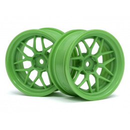 HPI Jantes 7B 26mm Offset +6mm Green (x2) 116531