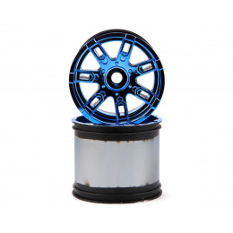 Losi Jantes Series Force 420 Chrome Bleu (x2) LOS44001