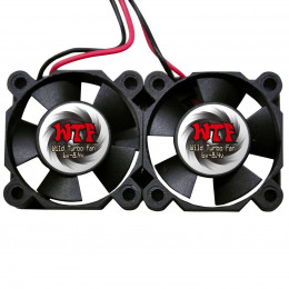 WTF Set de 2 Ventilateurs 30x10mm WTF3010TWIN