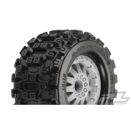 Proline Pneus Badlands MX28 2.8 + Jante F-11 Gris 12mm (x2) 10125-26