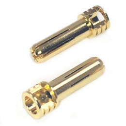 Trinity Plug High Voltage réglable 5mm Or Certified (x2) REV2204