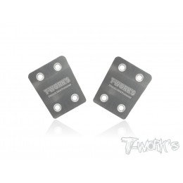 T-Work's Sabot de protection de châssis inox MBX-8 (x2) TO-220-M8