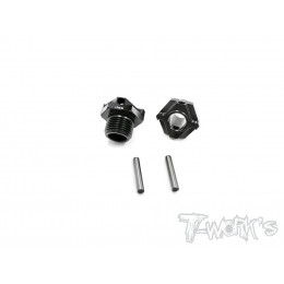 T-Work's Moyeu de Roue Light Weight Alu +2mm MBX-8 (x2) TO-245-M2