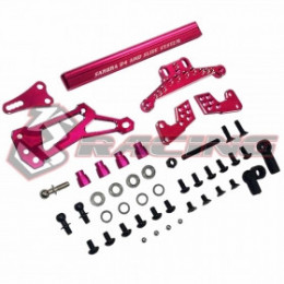 "3RACING Set de Direction ""Slide Track"" Alu Rose SAK-D4845/PK"